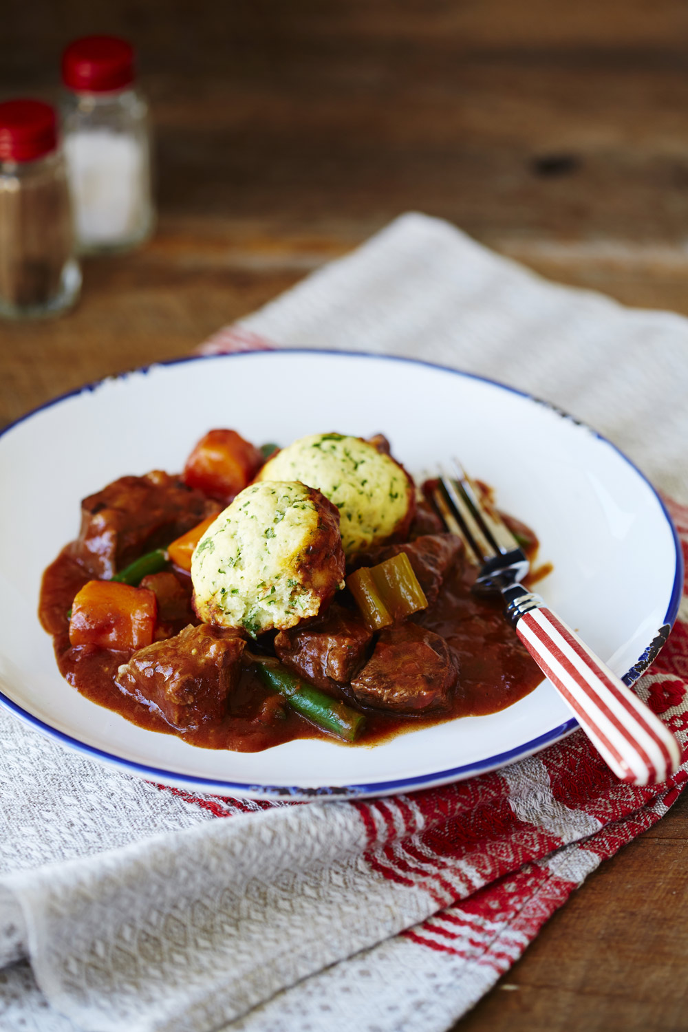 Beef casserole with herb dumplings - auzure Canola Oil
